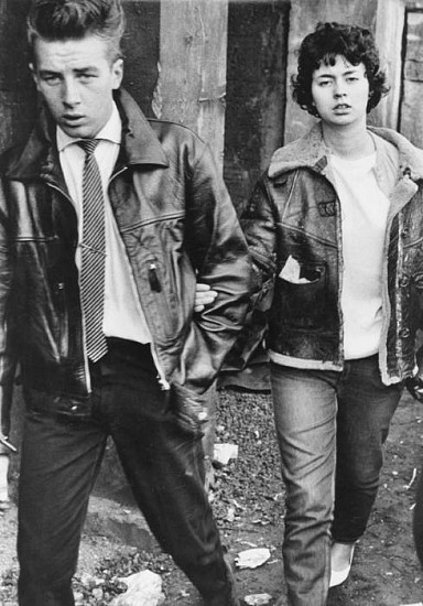 Roger Mayne ,   Teenage Couple, Crystal Palace  ,  Late 1950s     Vintage gelatin silver print ,  13 3/8 x 9 3/8 in. (34 x 23.8 cm)     1524     Sold