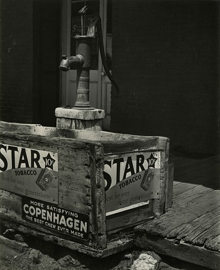 Alma Lavenson ,   Pump and Trough, Hornitos, California  ,  1940     Vintage gelatin silver print ,  9 9/16 x 7 7/8 in. (24.3 x 20 cm)     5185