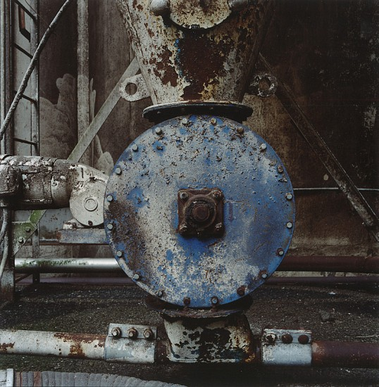 Arthur S. Aubry ,   Blue Valve @ Fischer Mills  ,  11-Dec-05     Chromogenic color print ,  19 7/16 x 19 3/16 in. (49.4 x 48.7 cm)     Edition of 8     2970     Price Upon Request