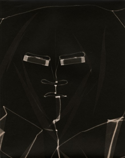 Eliot Elisofon ,   Untitled  ,  c. late 1930s     Vintage gelatin silver print ,  9 15/16 x 7 15/16 in. (25.2 x 20.2 cm)     Photogram (face)     6040