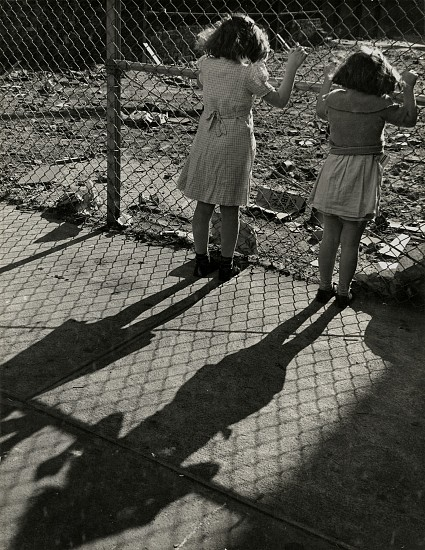 Eliot Elisofon ,   A wire fence is put up to keep trespassers out, from Playgrounds for Manhattan  ,  1938     Vintage gelatin silver print ,  13 3/8 x 10 3/8 in. (34 x 26.4 cm)     6069     Sold