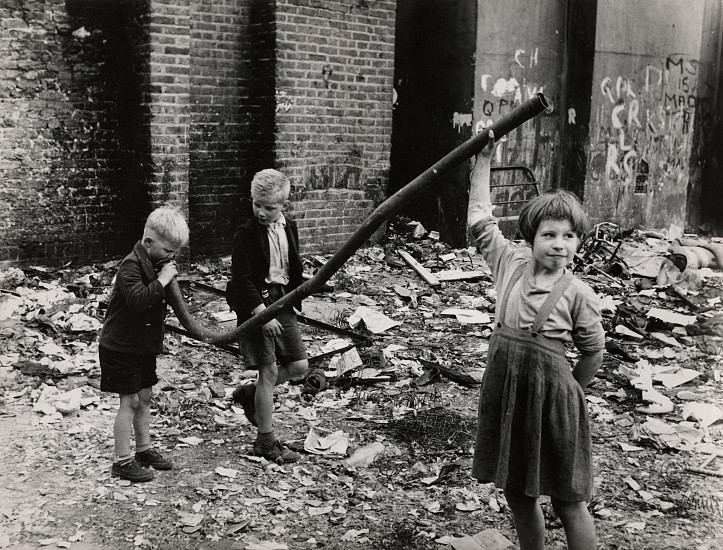 Roger Mayne ,   Bomb Site, Portland Road, North Kensington, London  ,  1958     Vintage gelatin silver print ,  5 1/2 x 7 1/8 in. (14 x 18.1 cm)     6472