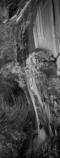 Lois Conner ,   North Rim, Canyon de Chelley, Arizona  ,  1992     Platinum print ,  16 1/2 x 6 1/2 in. (41.9 x 16.5 cm)     Edition of 5     5863