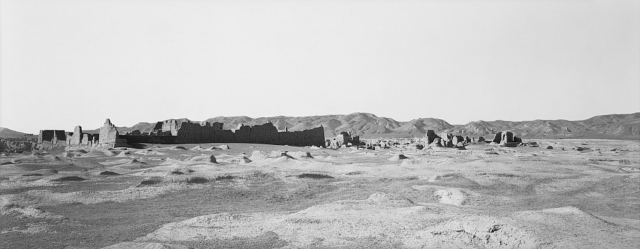 Lois Conner ,   Jiaohe, Xinjiang, China  ,  1991     Platinum print ,  6 1/2 x 16 1/2 in. (16.5 x 41.9 cm)     Edition of 10     5885