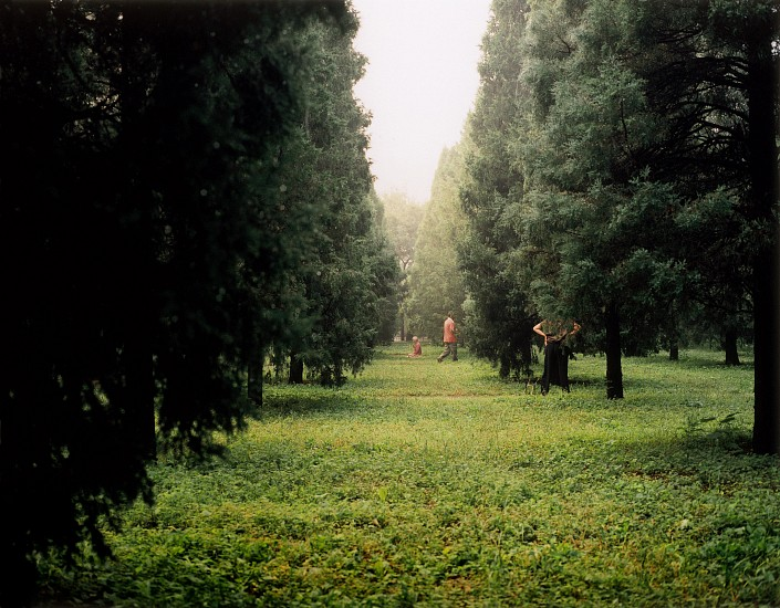 Allen Frame ,   Beijing park, (woman kneeling)  ,  2008     Chromogenic color print ,  30 x 35 1/2 in. (76.2 x 90.2 cm)     Edition of 5     3609