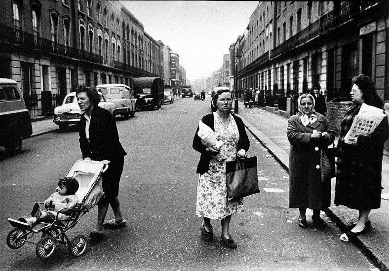 Roger Mayne ,   Women, Southam Street, North Kensington, London  ,  1961     Vintage gelatin silver print ,  16 1/2 x 23 3/8 in. (41.9 x 59.4 cm)     1518     Sold