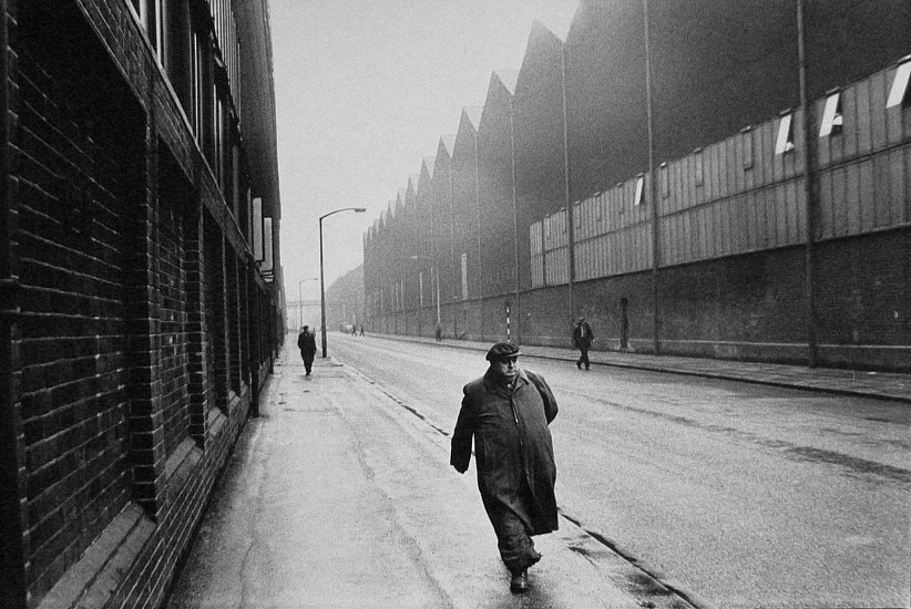 Roger Mayne ,   Man Leaving a Steel Works, Sheffield  ,  1961     Vintage gelatin silver print ,  21 1/4 x 31 3/4 in. (54 x 80.7 cm)     2957     Sold
