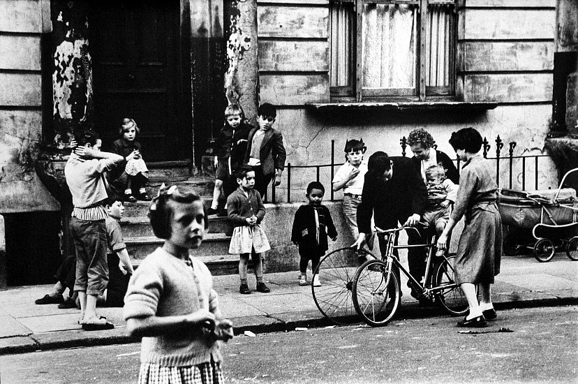 Roger Mayne ,   Southam Street Group, North Kensington, London  ,  1956     Vintage gelatin silver print ,  22 x 32 in. (55.9 x 81.3 cm)     1519     Sold