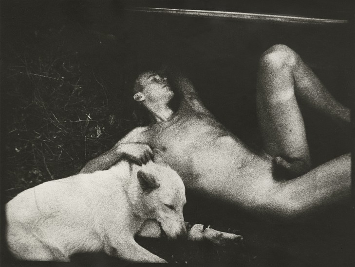 James Herbert ,   Graham with Dog, from