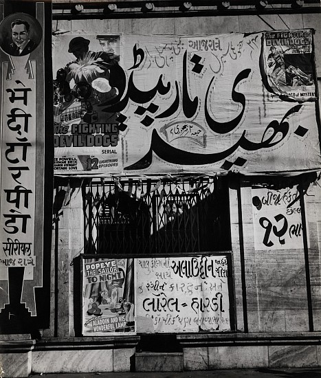 Ferenc Berko ,   Indian Cinema Advertising  ,  1938-40     Vintage gelatin silver print ,  11 3/8 x 9 3/4 in. (28.9 x 24.8 cm)     3666