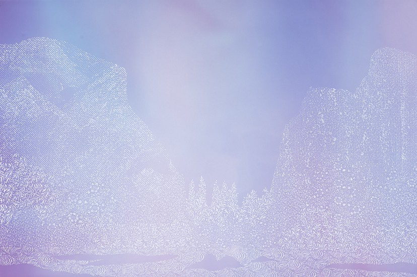 Christopher Russell ,   The Explorers #35  ,  2018     Pigment print scratched with a razor ,  24 x 36 in. (61 x 91.4 cm)     price includes framing with Tru Vue Optium acrylic     7766     Sold