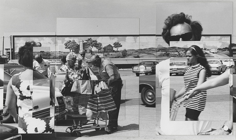 Kenneth Josephson ,   Illinois  ,  1970     Vintage gelatin silver print collage ,  5 1/4 x 8 7/8 in. (13.3 x 22.5 cm)     (self-portrait) (last print in the edition available)     8000     $20,000